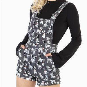 ISO Black Milk Disney Dalmatian Short Overalls